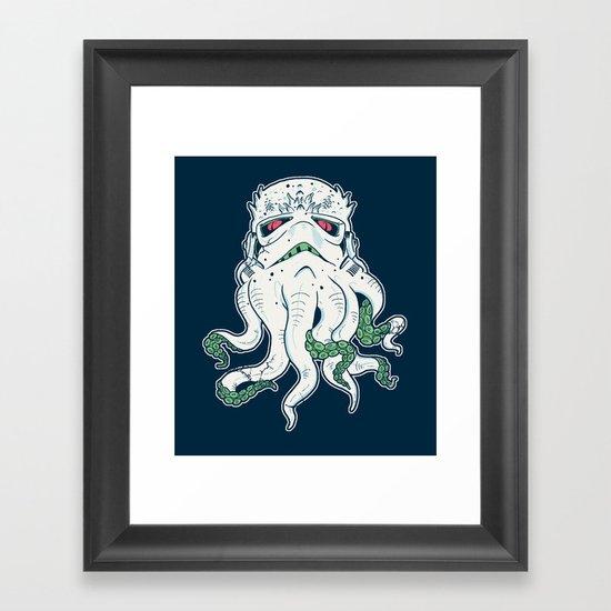 Stormthulhu Framed Art Print