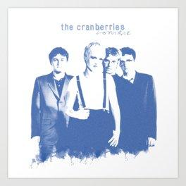 THE CRANBERRIES WHITE Art Print