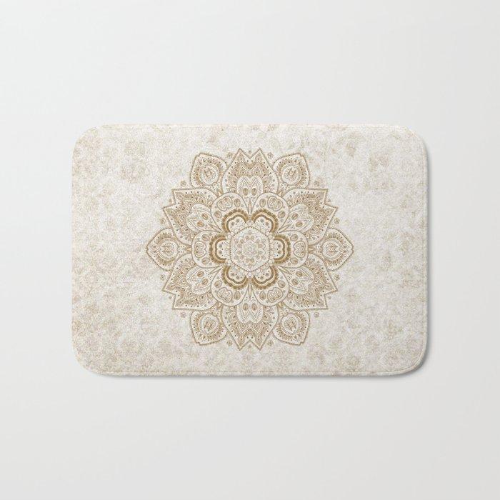 Mandala Temptation in Cream Bath Mat
