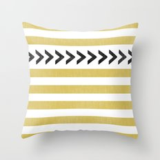 ARROW STRIPE {MUSTARD} Throw Pillow