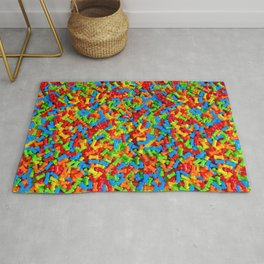 Dog Bones Multicolored Candy Pattern Rug