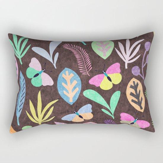 Flower and Butterfly III Rectangular Pillow