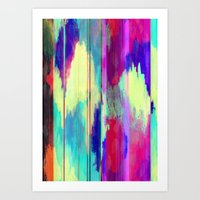 glitch Art Prints featuring Glitch by James McKenzie