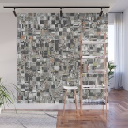 Geometric Jumble of Colors And Textures Wall Mural