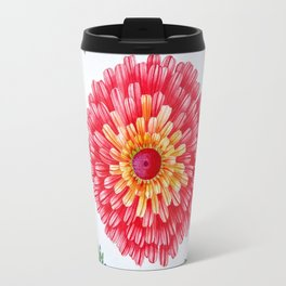 Bright Red Flower Called Sweet William Travel Mug