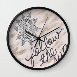Follow the sun Wall Clock