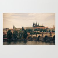 prague Area & Throw Rugs featuring Prague by maisie ong