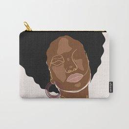 Black beauty girl, Melanin queen, African American women, dark skin girl, afro female Carry-All Pouch