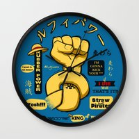 luffy Wall Clocks featuring Rubber Power by le.duc