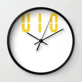 UIO - Mariscal Sucre International Airport Quito Ecuador - Gift or Souvenir Wall Clock