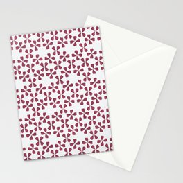 Feather Fan pattern -bordeux Stationery Cards