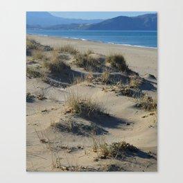 Sand Dunes Seascape Canvas Print