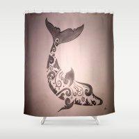 animal crew Shower Curtains featuring Animal by Shahadjef
