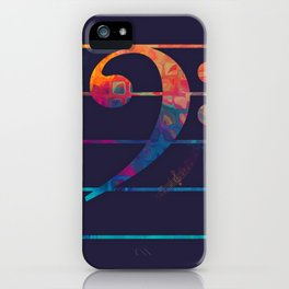 Bass Clef Color iPhone Case
