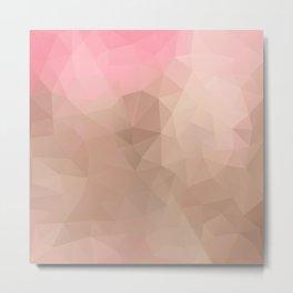 """Strawberry chocolate milkshake"" triangles design Metal Print"
