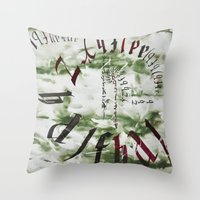typo Throw Pillows featuring typo by Ferdane Aydın