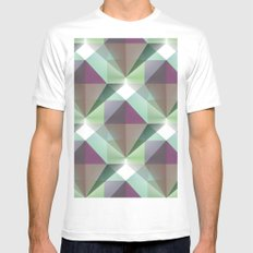 Facets 1 MEDIUM Mens Fitted Tee White