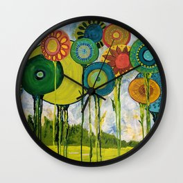 I Laughed With Joy Wall Clock