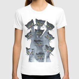 Huntsville Whimsical Black Cats T-shirt
