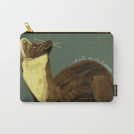 Fluffy Marten ( Martes martes ) Carry-All Pouch