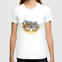 owls T-shirts featuring Owls by Catru