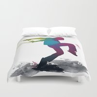 dancer Duvet Covers featuring dancer by PiliArt