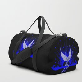 Electric Blue Angel Duffle Bag