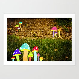 shrooms  Art Print