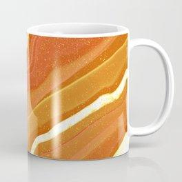 Jupiter Orange Agate Pattern Print Coffee Mug