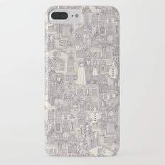 vintage halloween purple ivory iPhone 7 Plus Slim Case