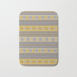 Granny's Fairisle - Honey Yellow Bath Mat