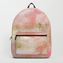 Rustic Gold and Pink Abstract Backpack