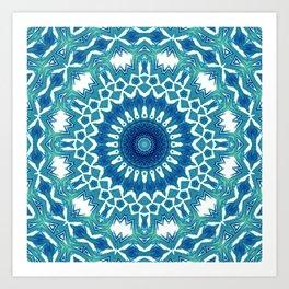 Sea Green Mandala Art Print