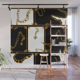 Unchained: Gold, Black + White Wall Mural