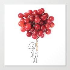 Boy with grapes - NatGeo version Canvas Print