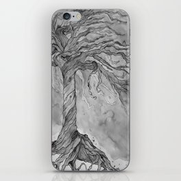 Tree of Life (Grey Scale) iPhone Skin