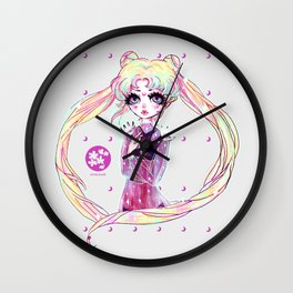 moon power ❤ usagi Wall Clock