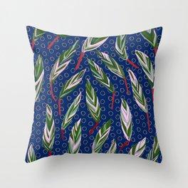 Stromanthe Sanguinera house plant Throw Pillow