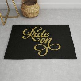 Ride On – Black/Gold Rug
