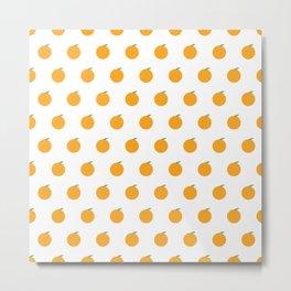 Orange Repeat Pattern Metal Print