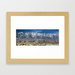 Face of the Eastern Sierras Framed Art Print
