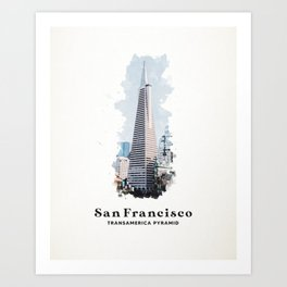 San Francisco Transamerica Pyramid Art Print