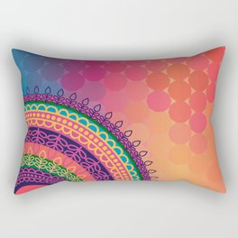 Ethnic Mandala on geometric pattern Rectangular Pillow