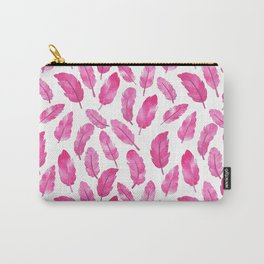 Pink feathers pattern Carry-All Pouch