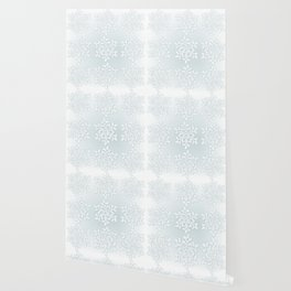 Crocheted Snowflake Ornaments on teal mist Wallpaper