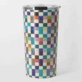 Fair Isle Woolen Quilt Blue Travel Mug