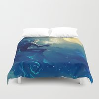 jack frost Duvet Covers featuring Jack Frost by AkiMao