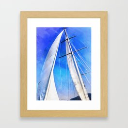 Sailing Unties The Knots Of My Mind Framed Art Print