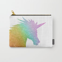 Rainbow Glitter Unicorn Carry-All Pouch