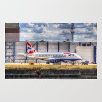 british Area & Throw Rugs featuring British Airways  by David Pyatt